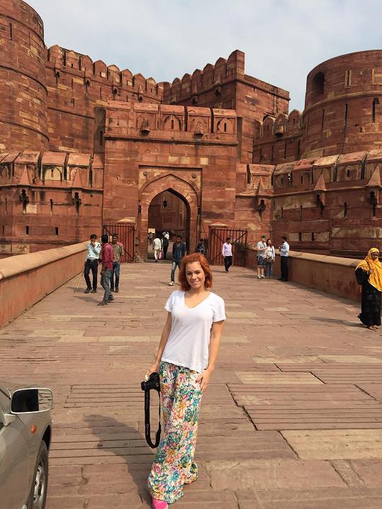 U hradu ve městě Agra