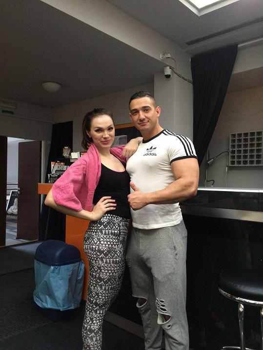 Kamila se svým kubánským trenérem Josém