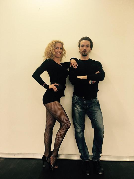 Eva Krejčířová se stepařem a choreografem Tomášem Slavíčkem