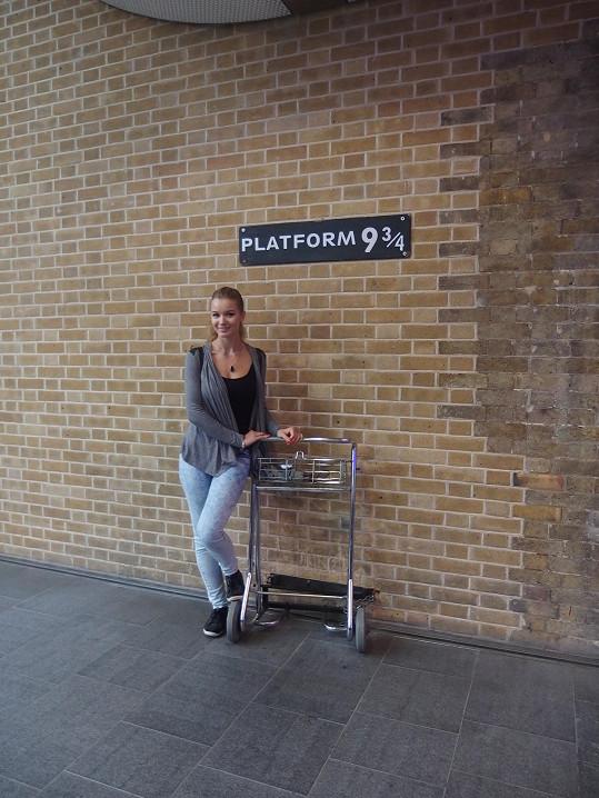 Gábinu překvapil odjezd vlaku z nástupiště 9 a ¾.