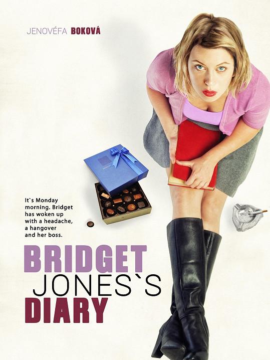Jenovéfa jako Renée Zellweger na fotce kopírující filmový plakát z roku 2001