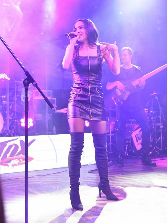 Eva Burešová byla hostem koncertu kapely Botox.