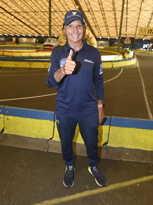 Emerson Fittipaldi je v Praze.