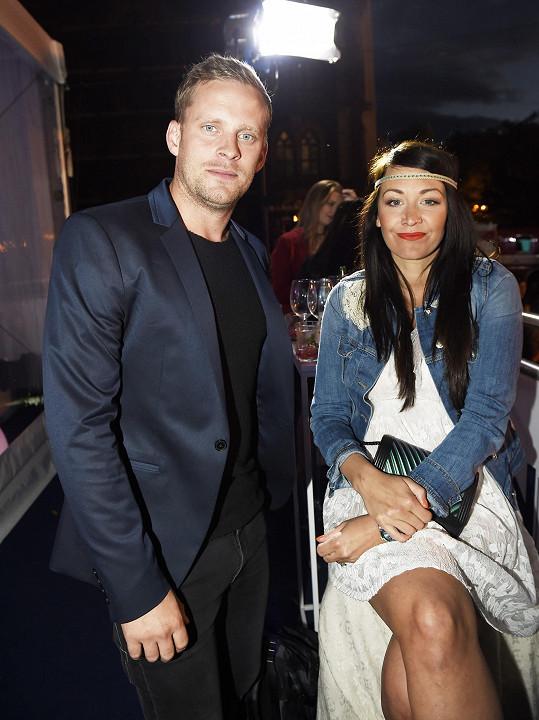 Modelka s manželem Jakubem Prachařem