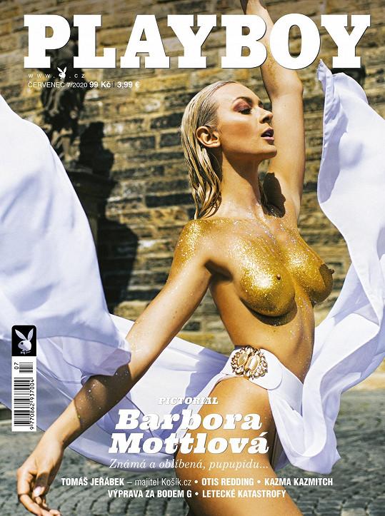 Bára na titulce Playboye