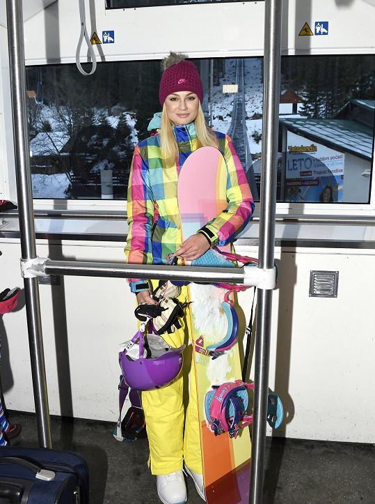 Tereza jezdí na hory od pěti let.