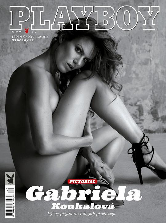 Gabriela Koukalová jako cover star magazínu Playboy