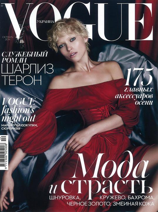 Topmodelka na titulu ukrajinského magazínu Vogue