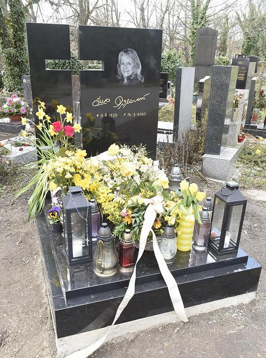 Kolomazník se stará o manželčin hrob na Malvazinkách.