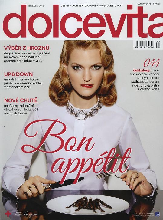 Magdalena Langrová na obálce prestižního českého magazínu DolceVita