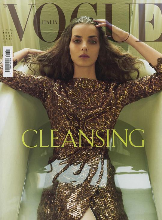 Denisa byla titulní tváří italského vydání Vogue.