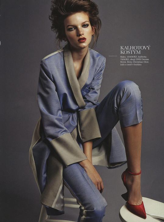 Eva v českém vydání prestižního módního časopisu