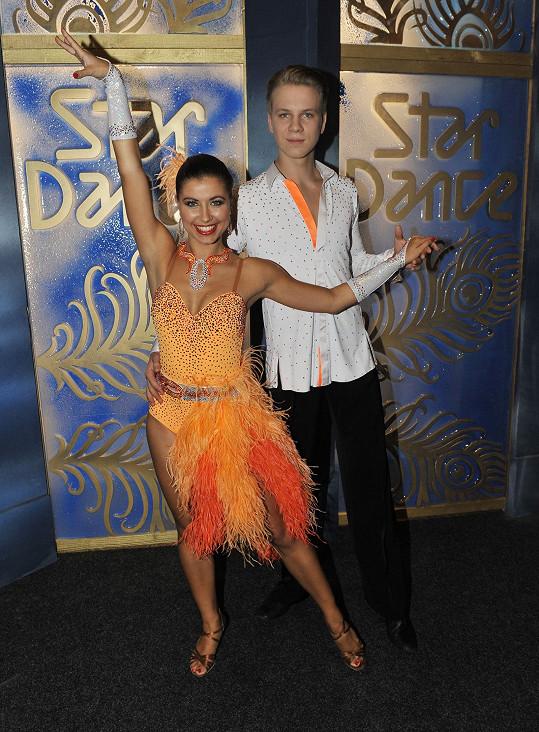 Zdeněk se svou tanečnicí Veronikou Lálovou