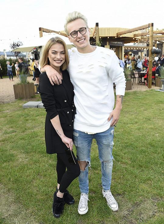 Kristýna s přítelem Vojtou Drahokoupilem