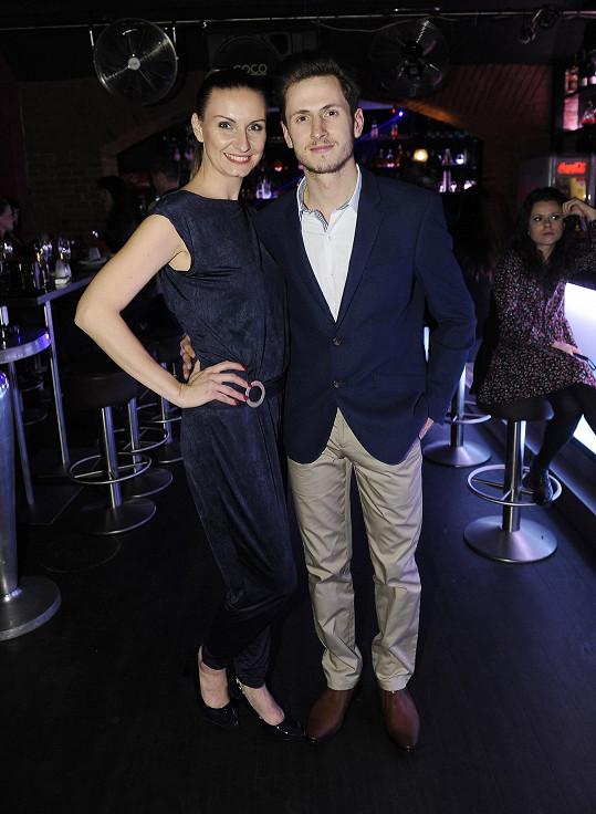 Martin s bývalou přítelkyní Martou Musilovou