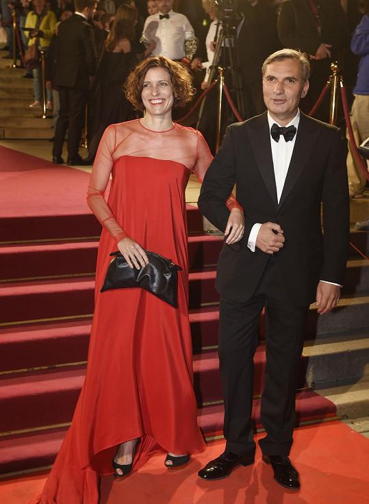 Jiří Macháček s partnerkou Kristinou Dufkovou