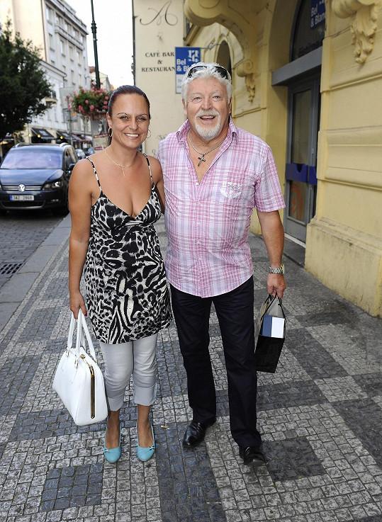 Milan Drobný s přítelkyní Janou.