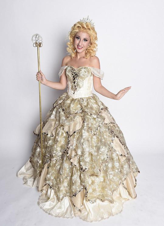 Natálka jako Glinda v muzikálu Čarodějka