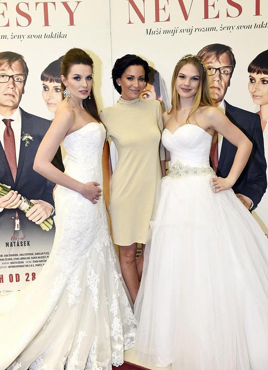 Gabriela Partyšová na premiéře komedie Jak se zbavit nevěsty.
