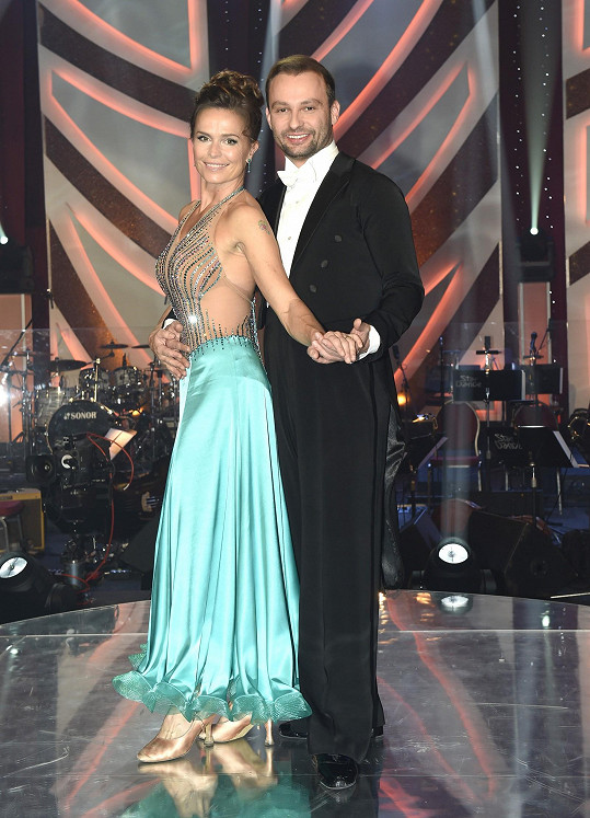 Taneční pár tvořil i s Olgou Šípkovou.