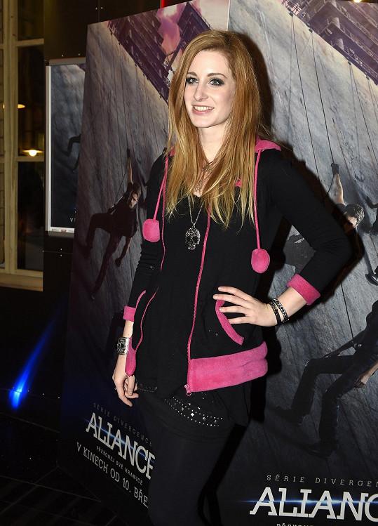 Sabina na premiéře sci-fi snímku Série Divergence: Aliance