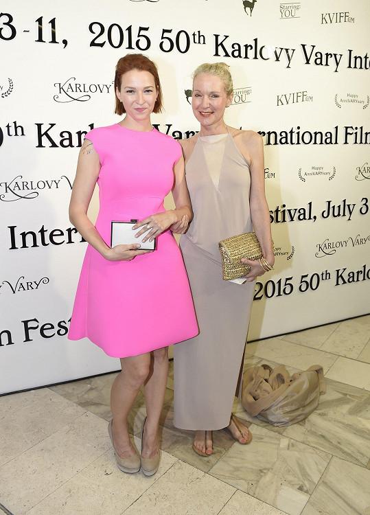 Kohoutová se svou fanynkou a podporovatelkou, matkou Irenou Obermannovou