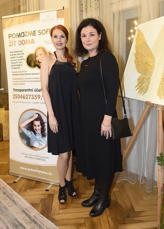 Martina s Juditou Halvovou, která uspořádala charitativní akci pro těžce nemocnou Sofii.