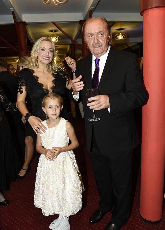 S dcerou Emilkou a Františkem Janečkem