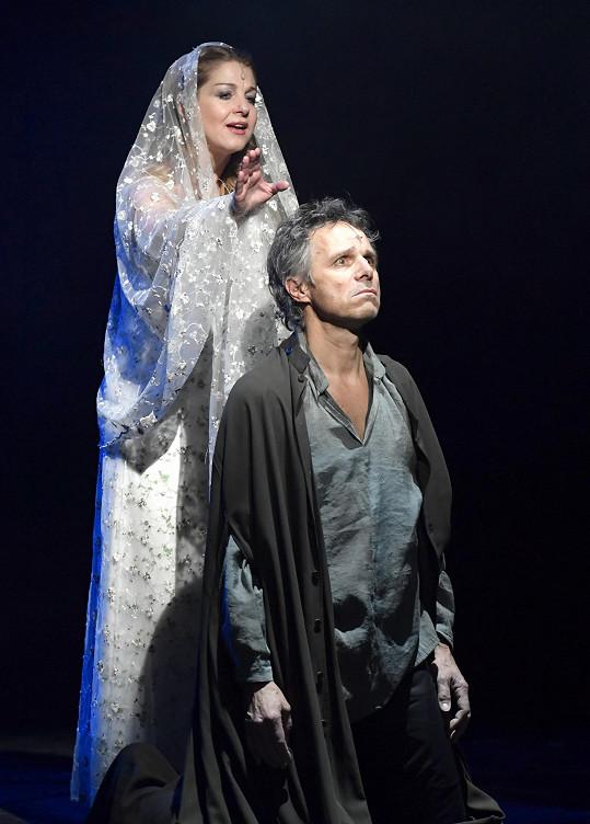 Laurinovou můžeme vídat i v divadle, například v muzikálu Galileo, kde hraje s Jankem Ledeckým.