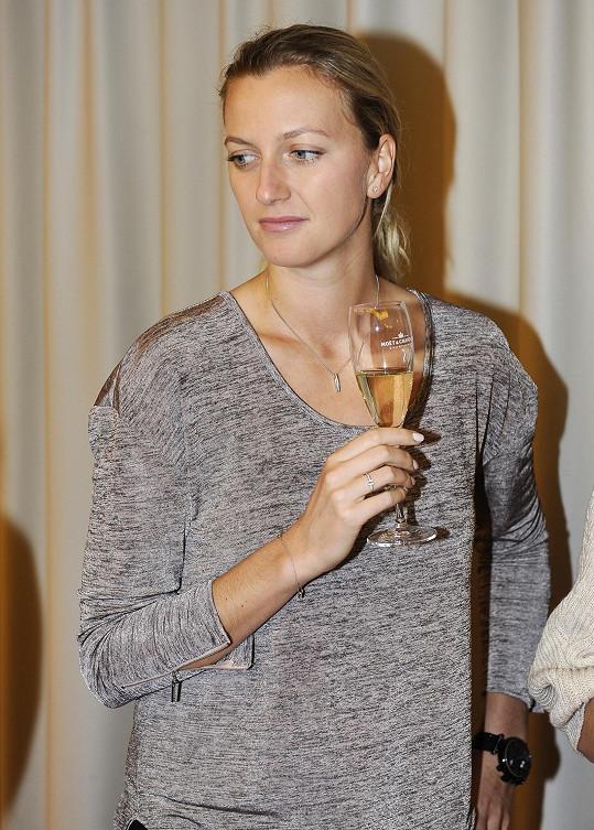 Petra Kvitová těsně před zahájením turnaje Fed Cup 2015