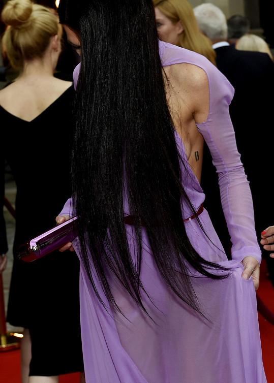 Vlasy si nechala prodloužit pod zadek.