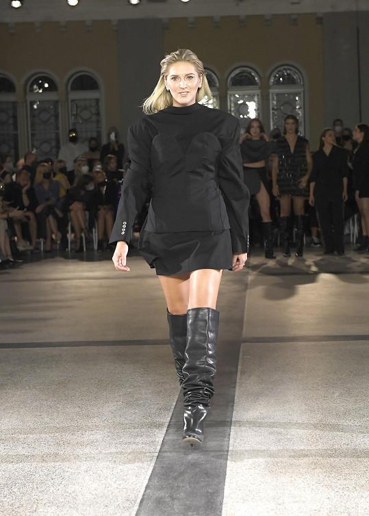 Zorka Hejdová na fashion weeku.