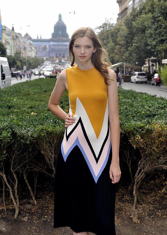 Klímková je jen na skok v Čechách. Kvůli finále modelingové soutěže přicestovala z New Yorku a po jejím skončení letí za prací do Londýna.