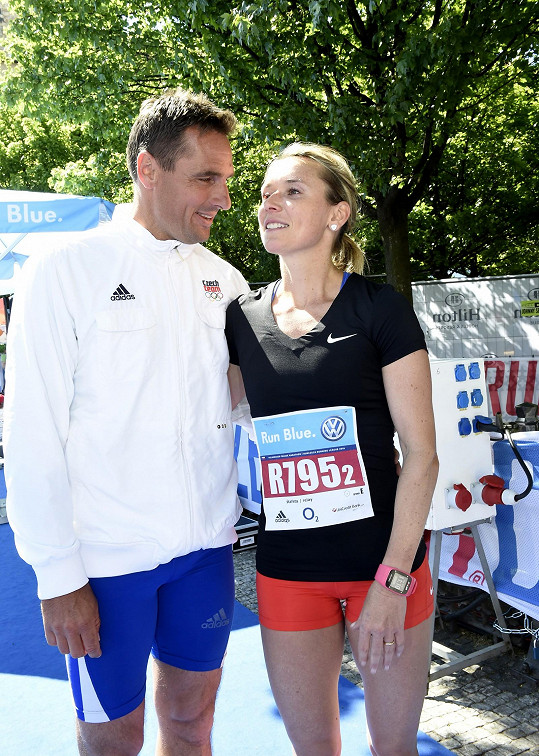 Roman Šebrle s manželkou