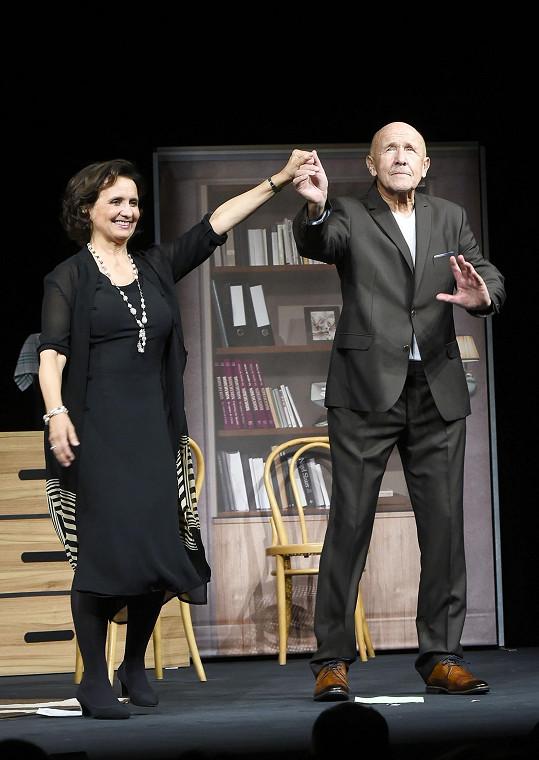 Veronika s Petrem po představení