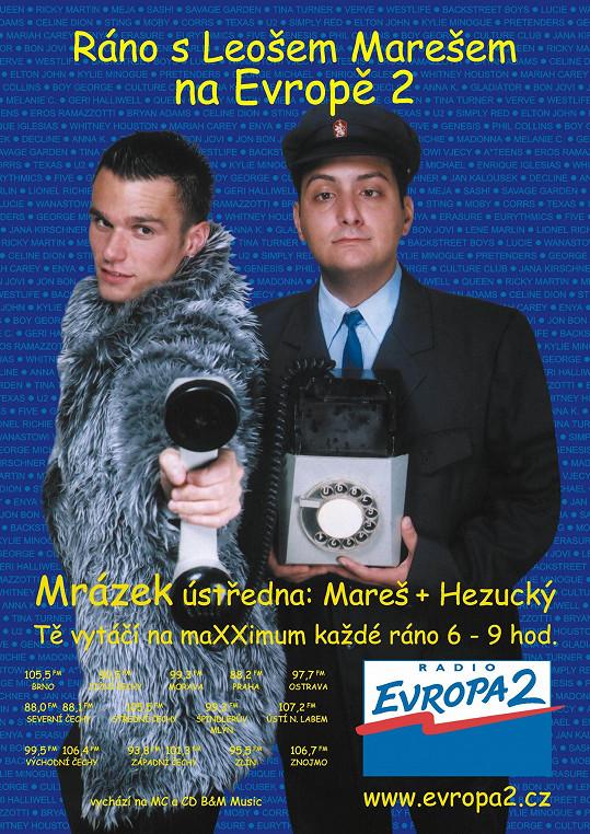 Leoš Mareš a Patrik Hezucký v jedné ze starších kampaní