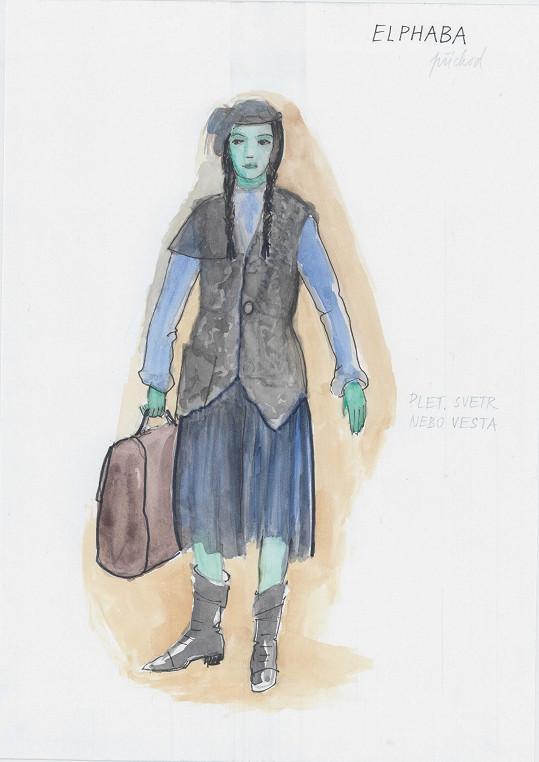 Obě čarodějky budeme sledovat od školních let. Zde je Elphaba jako mladinká studentka.