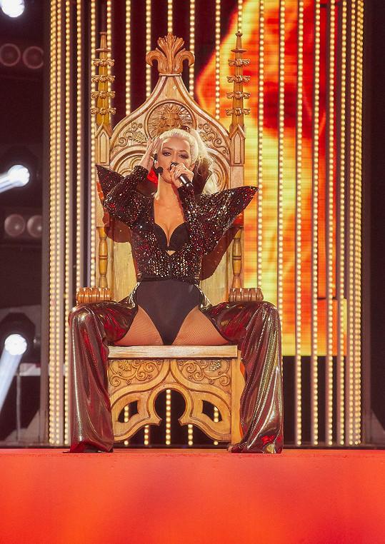 Jitka Boho jako Christina Aguilera