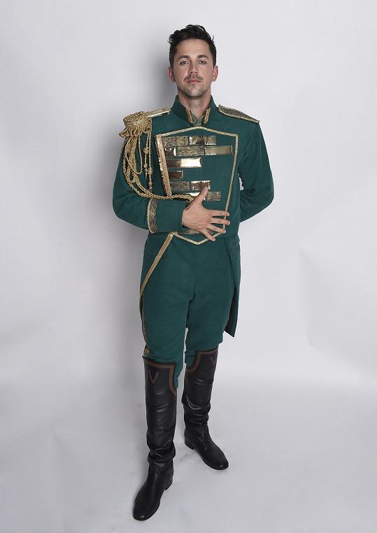Petr jako Fiyero v muzikálu Čarodějka