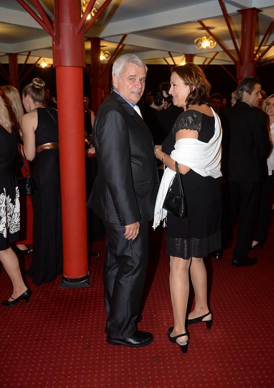 Manželé si nenechali ujít premiéru Fantoma opery.