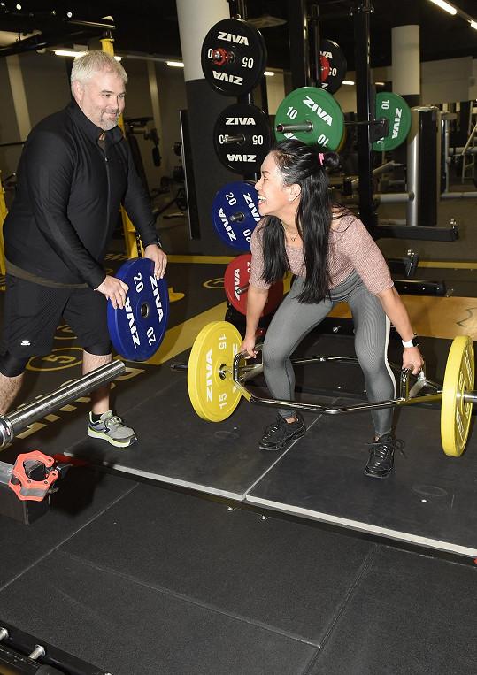 Během natáčení pořadu Cvičení s Pavlem Šalitrošem bylo v této sestavě o zábavu postaráno.
