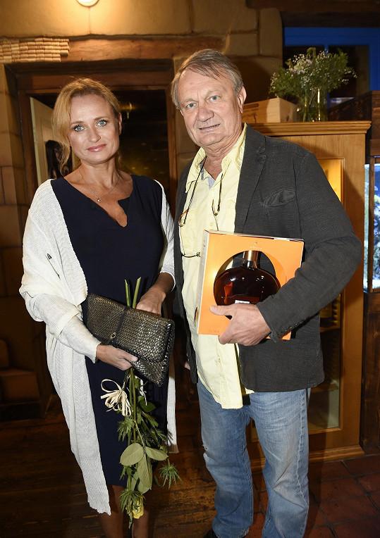 Jana Adamcová s manželem režisérem Jiřím Adamcem