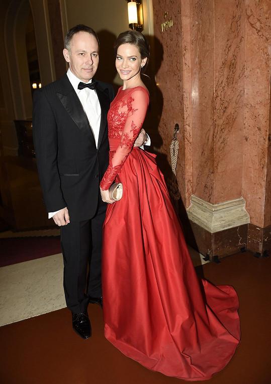 Andrea s manželem na Česko-Slovenském plese