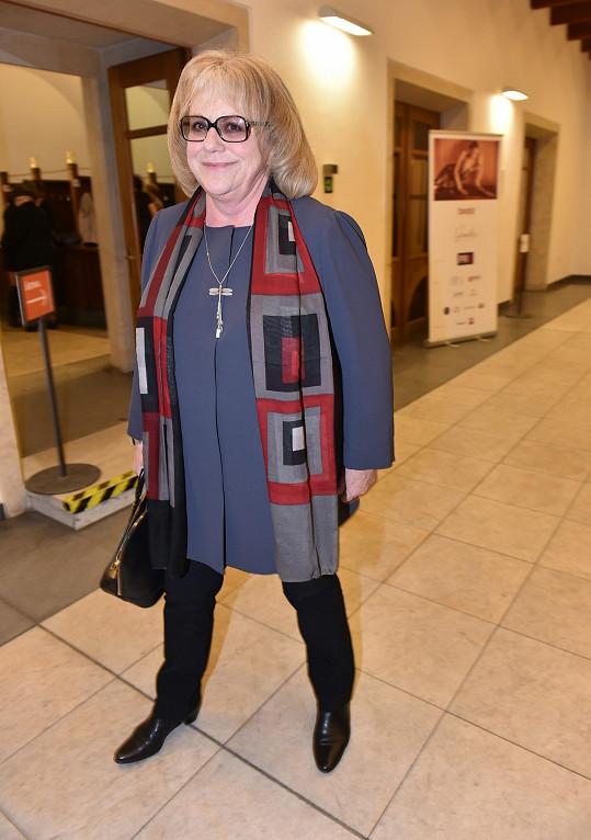 ...nebo herečka a výtvarnice Iva Hüttnerová.