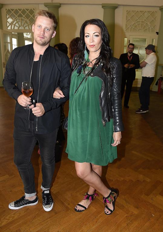 Agáta s manželem Jakubem Prachařem na Media párty