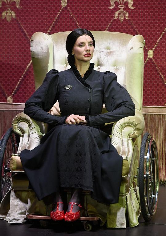 Monika jako Nessarose v muzikálu Čarodějka