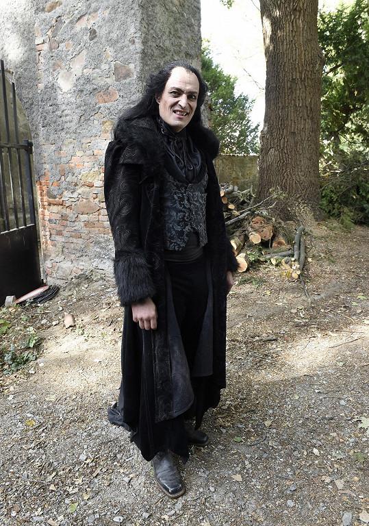 Karel Dobrý v kostýmu upíra Ignáce