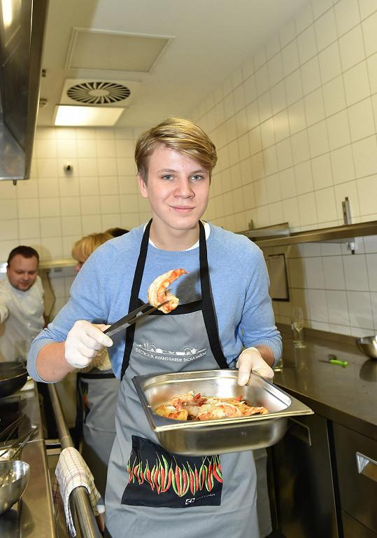 Zdeněk na valentýnském kurzu vaření