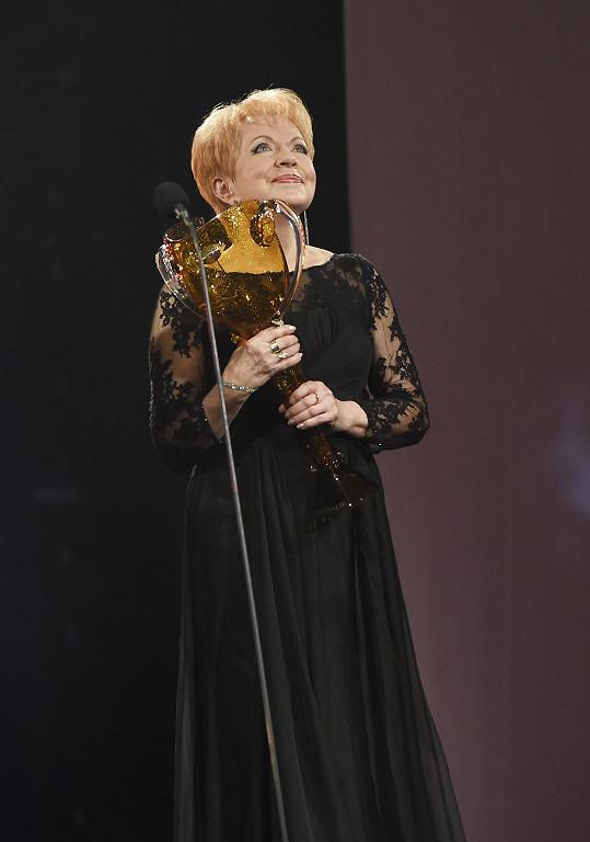 Pavla Břínková dostala cenu za celoživotní výkon v oboru muzikál a opereta.