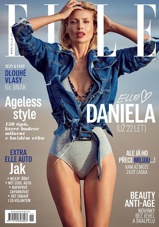 Daniela Peštová na obálce listopadové Elle